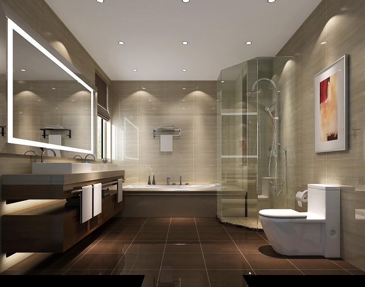 现代 中式 别墅 白领 小资 卫生间图片来自沙漠雪雨在8哩岛280㎡现代风格中式别墅的分享