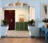 这套居室的主人是一对非常恩爱的小夫妻俩,我很高兴他们选择了希腊地中海作为他们设计风格。因为在我想来,希腊的那种蓝白相配的色感,是相当的舒适与浪漫的,也比较复合他们俩的生活态度。