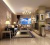 厨房与客厅之间本是一面墙,根据客户要求做成开放式厨房,所以少了客厅的电视背景墙,那么根据要求改成吧台与电视背景墙为一体形式