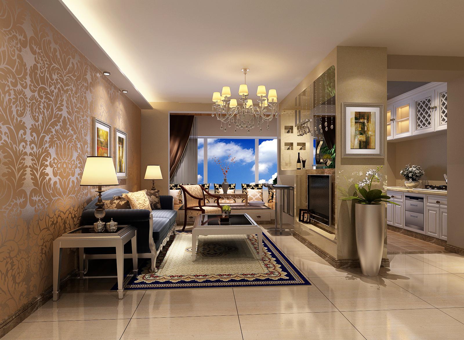 简约 欧式 二居 白领 80后 小资 欧式风格 两居室装修 欧式风格装 客厅图片来自北京实创装饰石头在简欧风格两居室,尊贵与优雅的分享