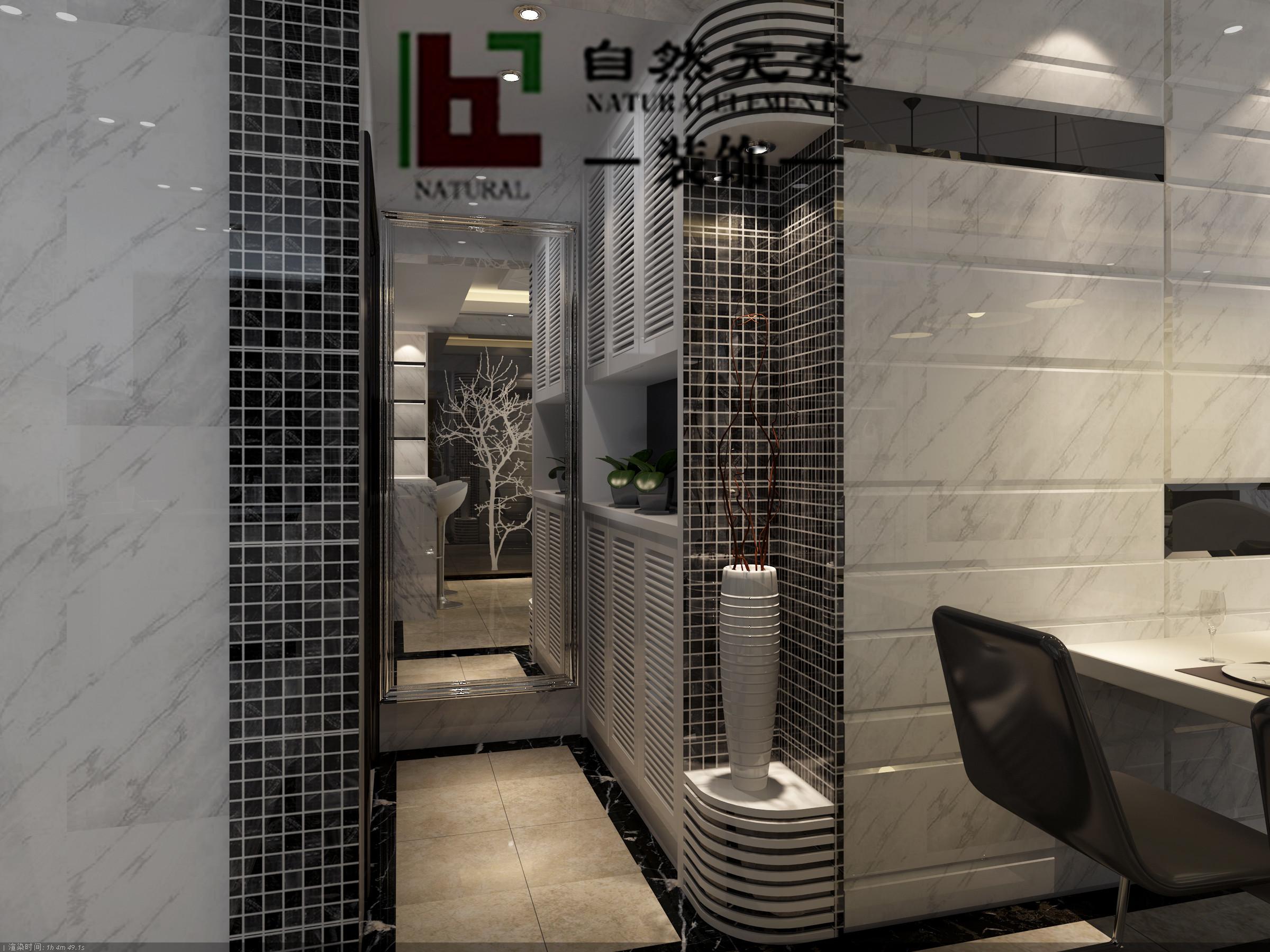 自然元素 廊桥国际 三居室 小资 旧房改造 玄关图片来自马晓丹在廊桥国际的分享
