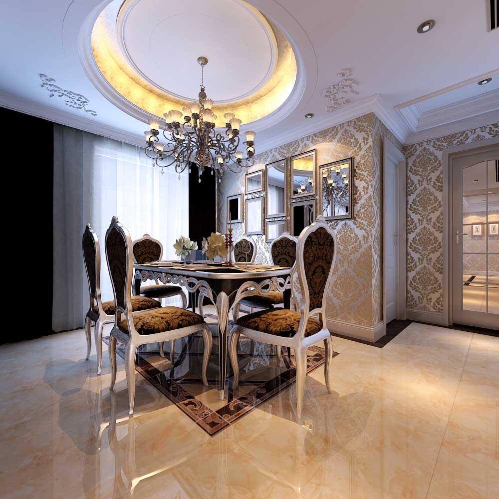欧式 混搭 白领 80后 小资 餐厅图片来自956258174x在山水装饰绿城百合公寓欧室新古典的分享