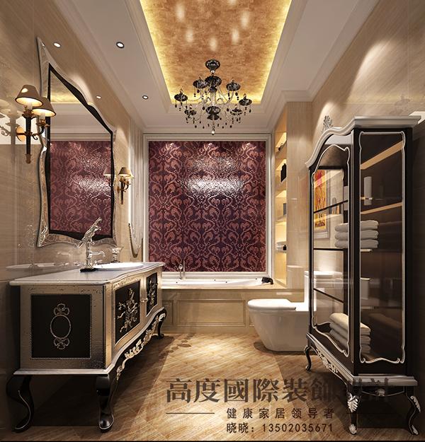简欧 复试 小资 卫生间图片来自天津高度国际装饰设计在宝坻书香园·~简欧风格的分享
