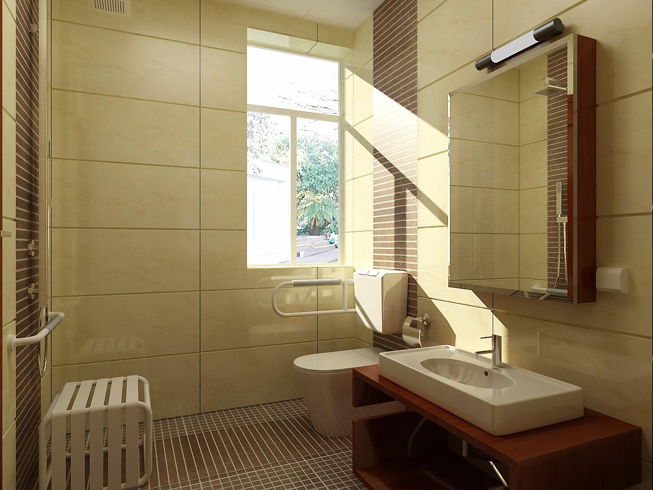 简约 欧式 三居 白领 小资 卫生间图片来自用户2246468343在6.32万打造简欧风格三居室的分享