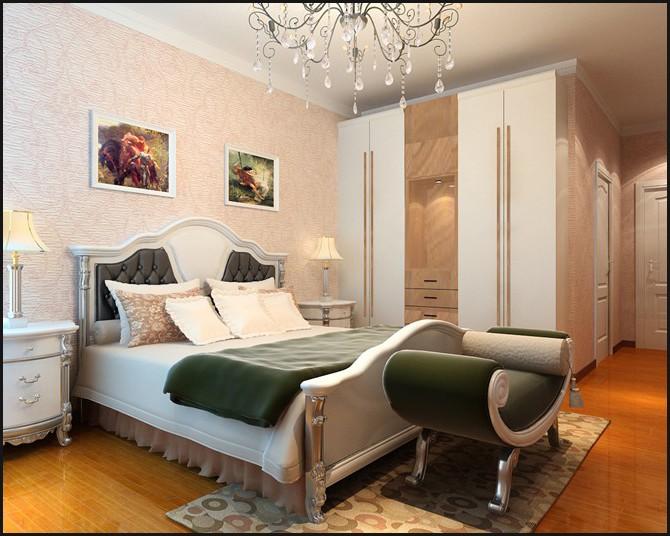 简约 欧式 三居 白领 小资 卧室图片来自用户2246468343在6.32万打造简欧风格三居室的分享