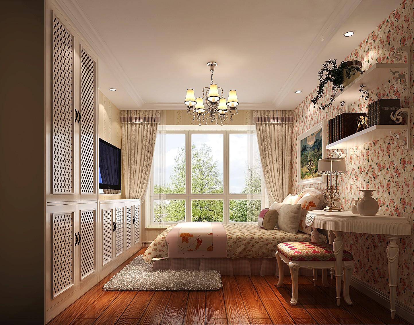 简约 田园 三居 二居 K2百合湾 白领 收纳 小资 80后 卧室图片来自北京高度国际装饰设计在k2百合湾田园风的分享