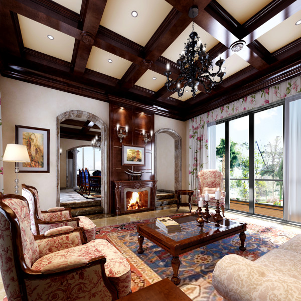 中式装修风格客厅2