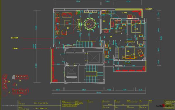 名雕丹迪别墅设计--天御山别墅--现代中式--一楼平面图