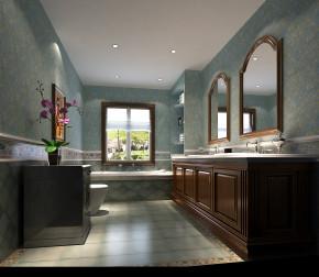 托斯卡纳 高度国际 欧式 别墅 三居 白领 80后 小资 高富帅 卫生间图片来自北京高度国际装饰设计在潮白河孔雀城托斯卡纳别墅的分享