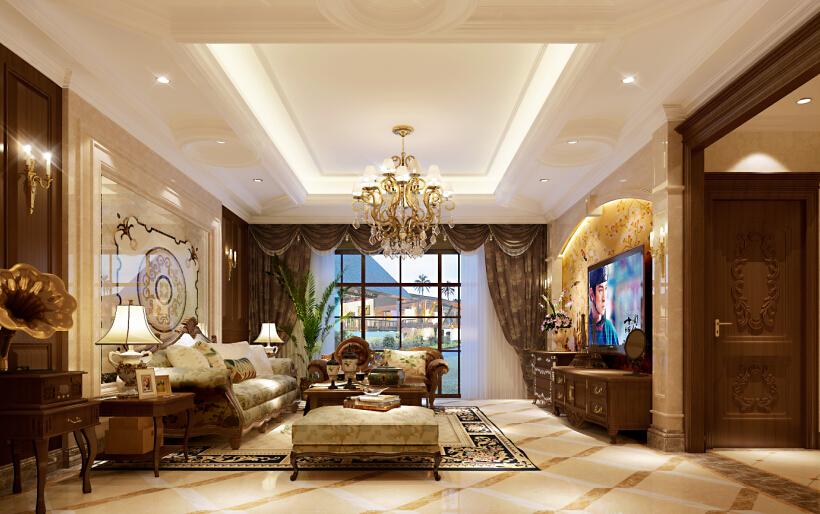 欧式 简约 大气 别墅 客厅 客厅图片来自尚层别墅设计在墅郡:欧式风格的简约大气之美的分享