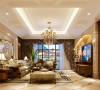 客厅的浅色大理石拼花墙面与拼色地毯散发出的是淡雅清新的现代欧式味道,时尚的白色调沙发与装饰品的摆放,让整个客厅营造出时尚、高贵、轻松、愉悦的视觉感空间,