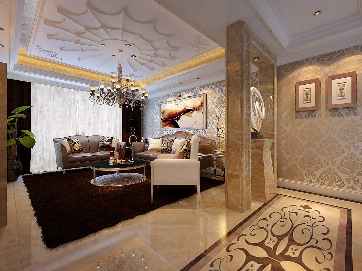 欧式 混搭 白领 80后 小资 客厅图片来自956258174x在山水装饰绿城百合公寓欧室新古典的分享
