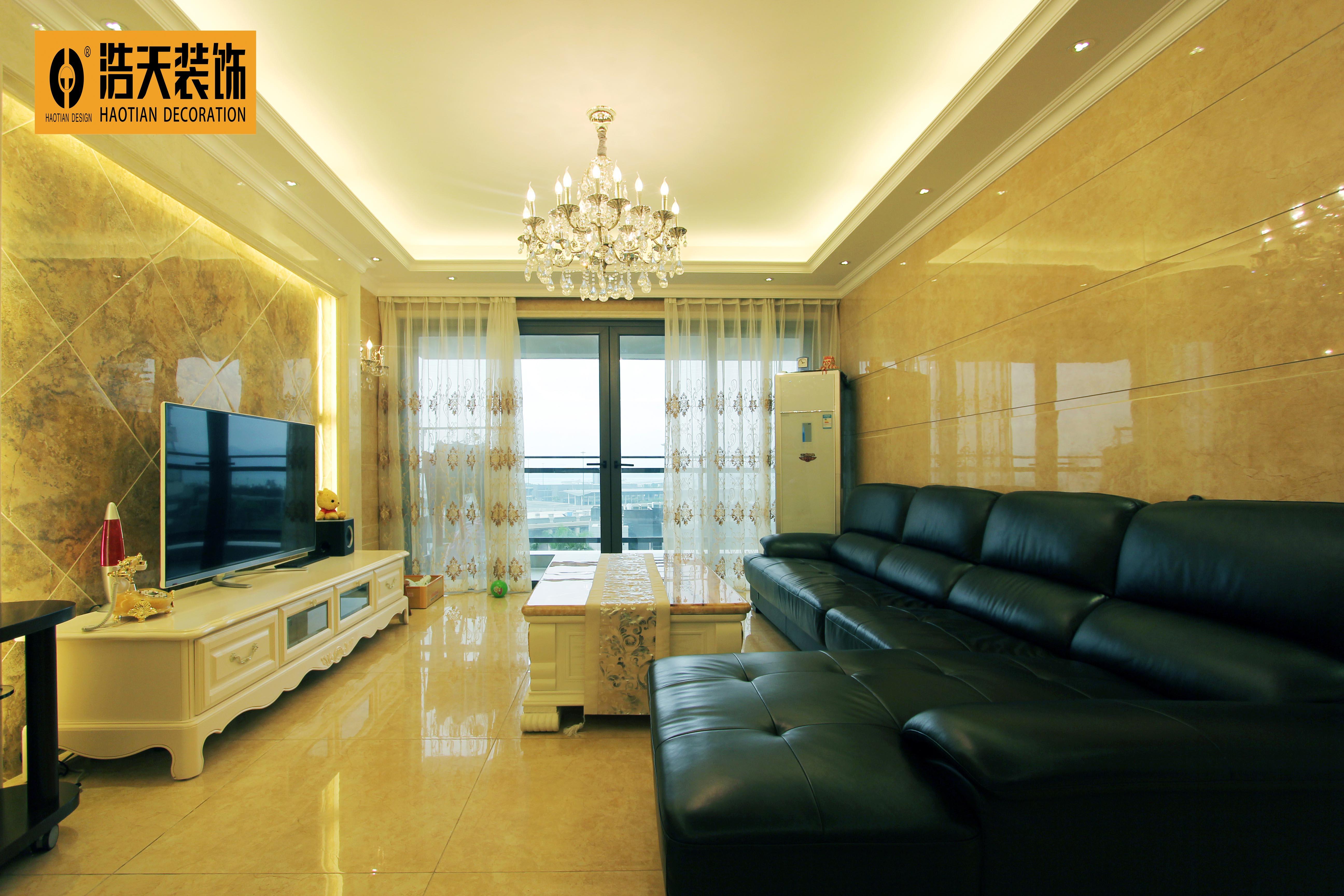 客厅图片来自深圳市浩天装饰在幸福海岸的分享