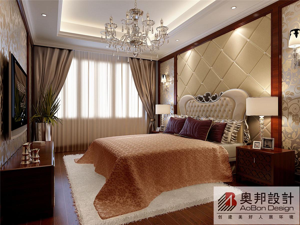 欧式 简约 别墅 奥邦装饰 新华苑 别墅装修 卧室图片来自上海奥邦装饰在上海新华苑现代欧式风格设计的分享