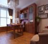 华地紫园139㎡中式装修设计,书房效果图,地面地板。