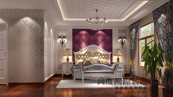简欧 复试 小资 卧室图片来自天津高度国际装饰设计在宝坻书香园·~简欧风格的分享