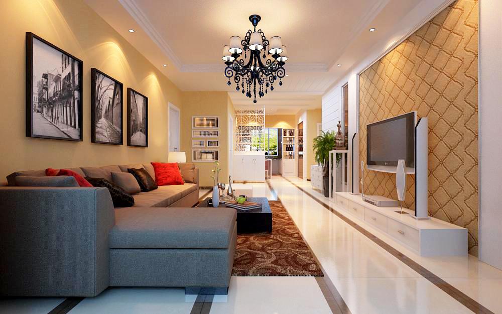 简约 三居 客厅图片来自用户2246468343在简约--名门华都小区三居室。的分享