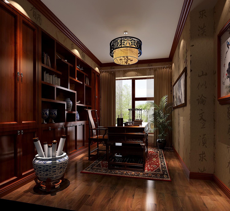 书房图片来自吴灿在传统中式的现代做法的分享