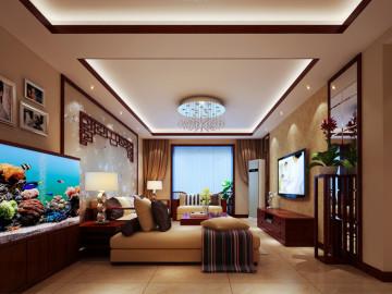 三代同堂的简约中式108平三居室