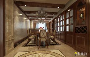 混搭 美式混搭 别墅 高富帅 白富美 名雕装饰 天御山 餐厅图片来自名雕装饰设计在天御山--美式混搭220平豪宅装饰的分享
