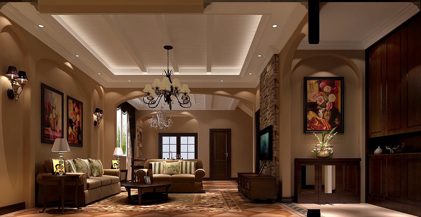 托斯卡纳 四室 小资 80后 收纳 别墅 客厅图片来自沙漠雪雨在14.8万打造托斯卡纳四居的分享