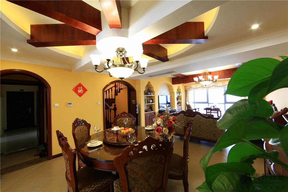 欧式 别墅 奥邦装饰 赵新艳 首席设计师 别墅装修 实景展示 餐厅图片来自上海奥邦装饰在美式风格别墅实景拍摄的分享
