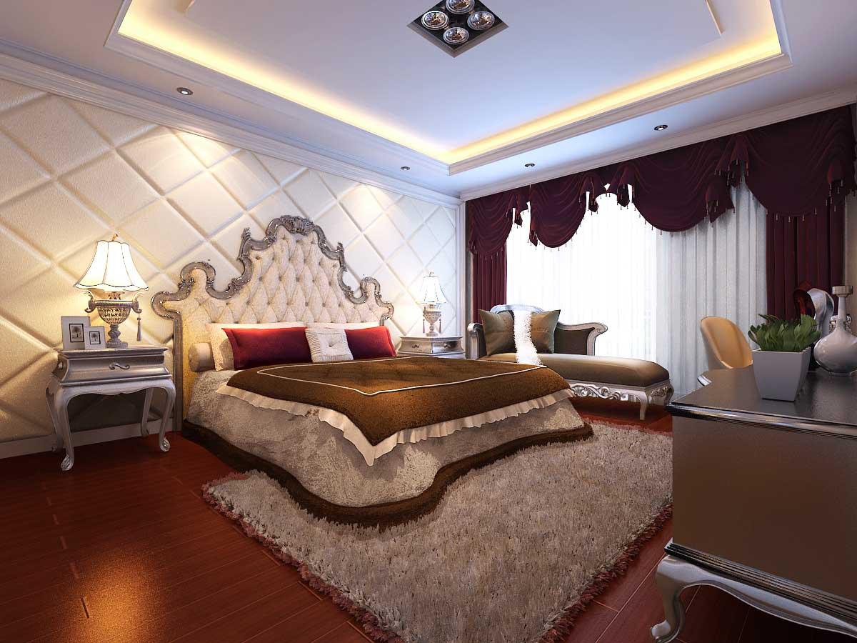 欧式 混搭 白领 80后 小资 卧室图片来自956258174x在山水装饰绿城百合公寓欧室新古典的分享