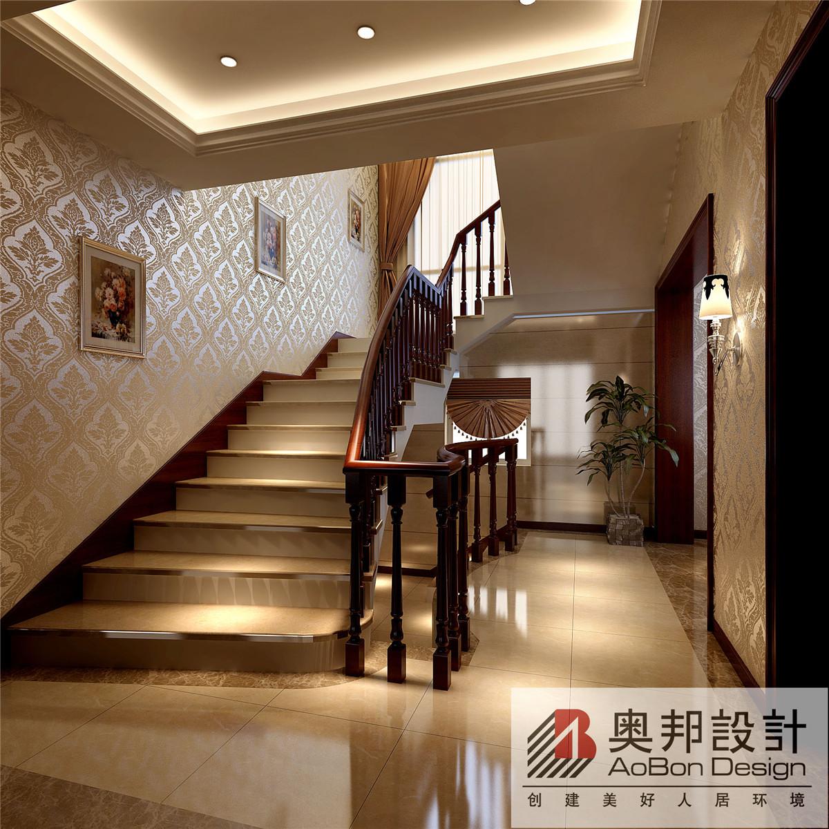 欧式 简约 别墅 奥邦装饰 新华苑 别墅装修 玄关图片来自上海奥邦装饰在上海新华苑现代欧式风格设计的分享