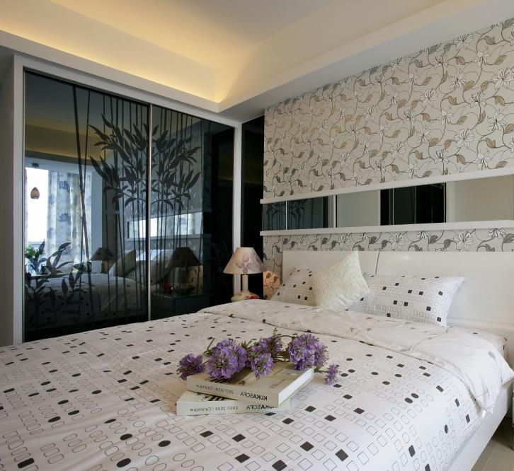 卧室图片来自轻舟装饰-90后的华仔在鸿坤曦望山C5户型方案的分享