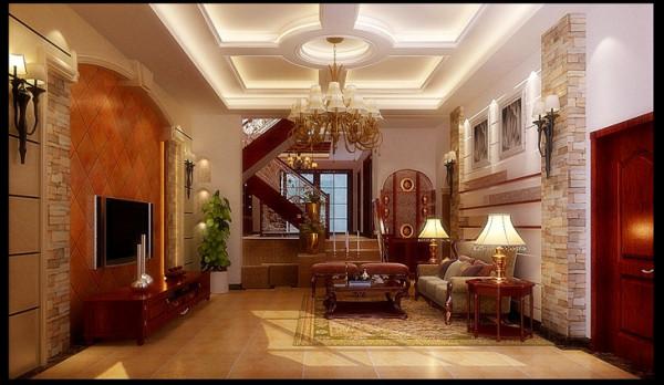 清水苑二期300平方别墅装修案例【餐厅装修设计效果图】