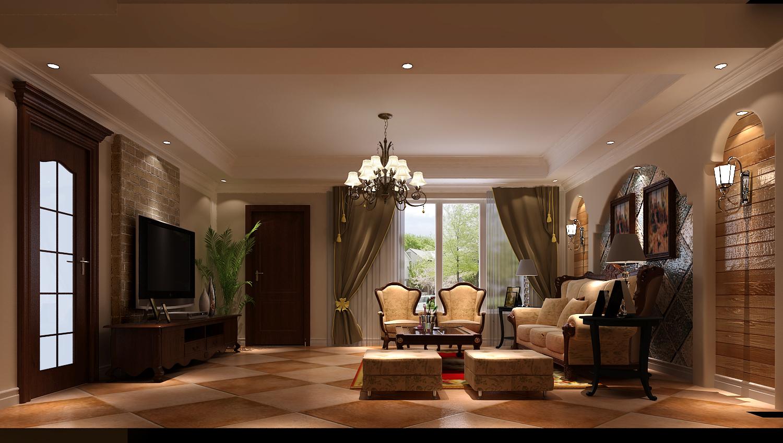 客厅图片来自专业别墅设计工作室在潮白河孔雀城的分享