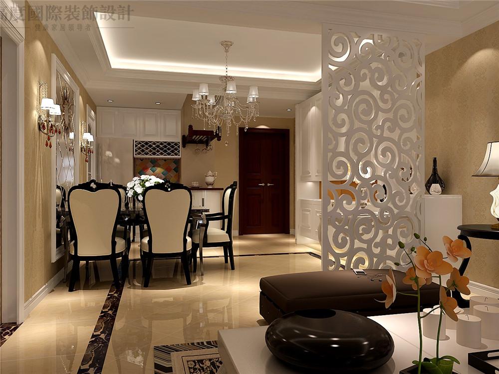 简欧 二居 装修 设计 收纳 餐厅图片来自高度国际别墅装饰设计在海棠湾简欧设计的分享