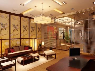 东辉明珠300平中式风格设计