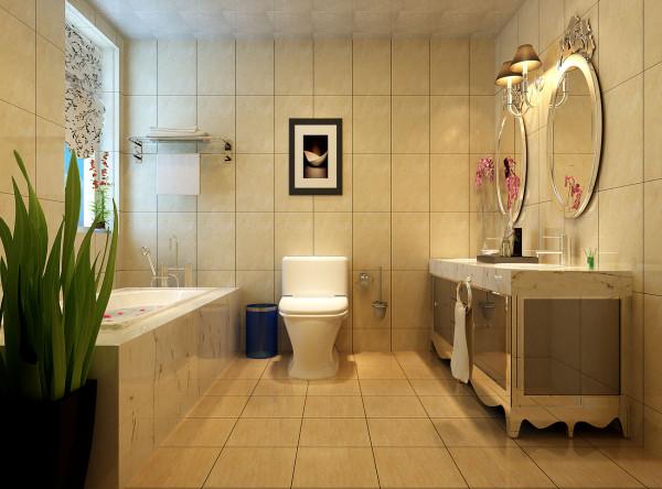 成都实创装饰—整体家装—100平米—简约欧式风格—卫生间装修效果图