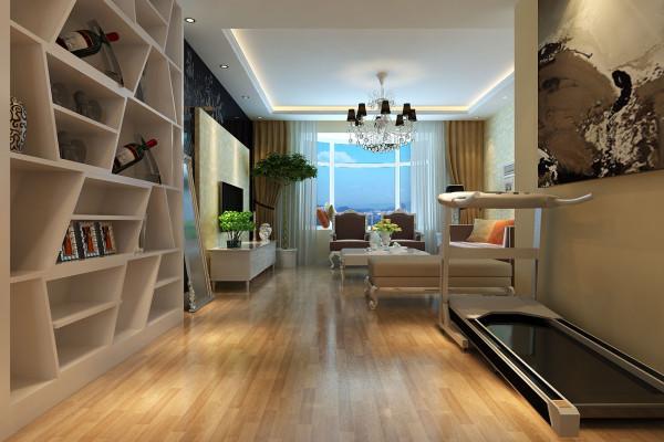 成都实创装饰—整体家装—100平米—简约欧式风格—客厅装修效果图