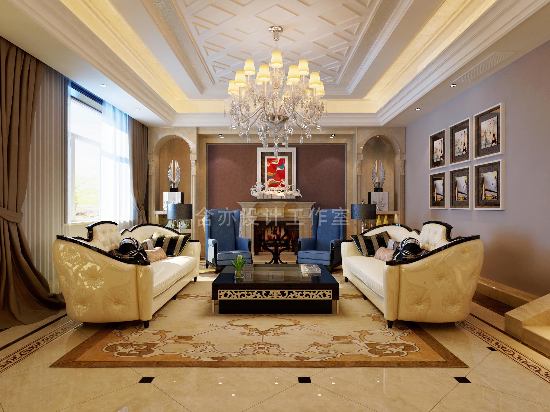 欧式 别墅 室内设计 太原设计师 客厅图片来自王含亦在绛县别墅的分享