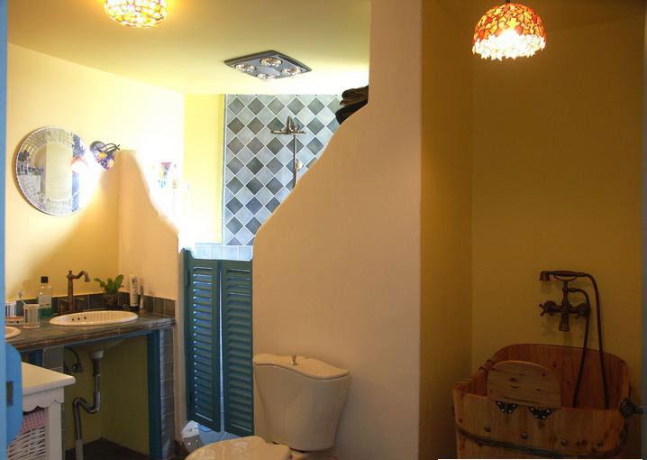 田园 三居 和平盛世 卫生间图片来自合肥川豪装饰装修在和平盛世132平米田园风格的分享