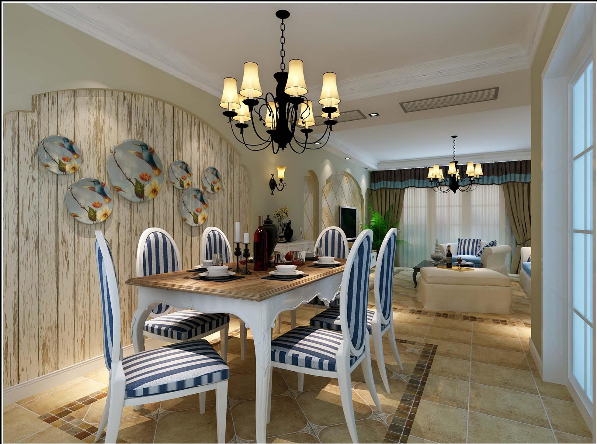 田园 三居 和平盛世 餐厅图片来自合肥川豪装饰装修在和平盛世132平米田园风格的分享