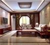 四合上院120平三居室中式风格