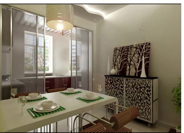 咖啡色与白色搭配的装饰柜配上层次分明的现代画,更体现出主人所要求简单又不失舒适的品质生活