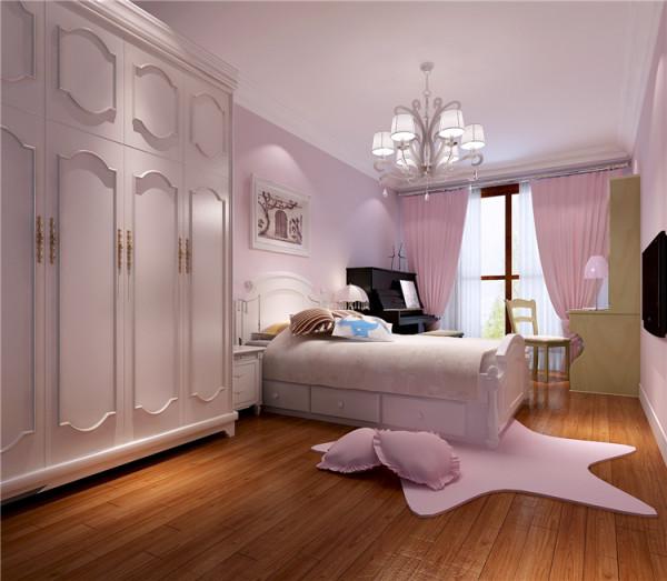 此案例客户家有5岁的小公主,所以从整体设计色调上很靓丽。