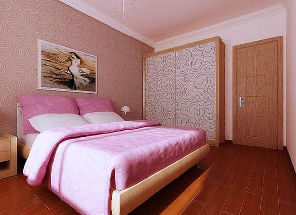 次卧色彩的搭配使得空间充满了温馨,粉色的色彩运用,能够充分彰显小家碧玉的气度,体现主人的品位。