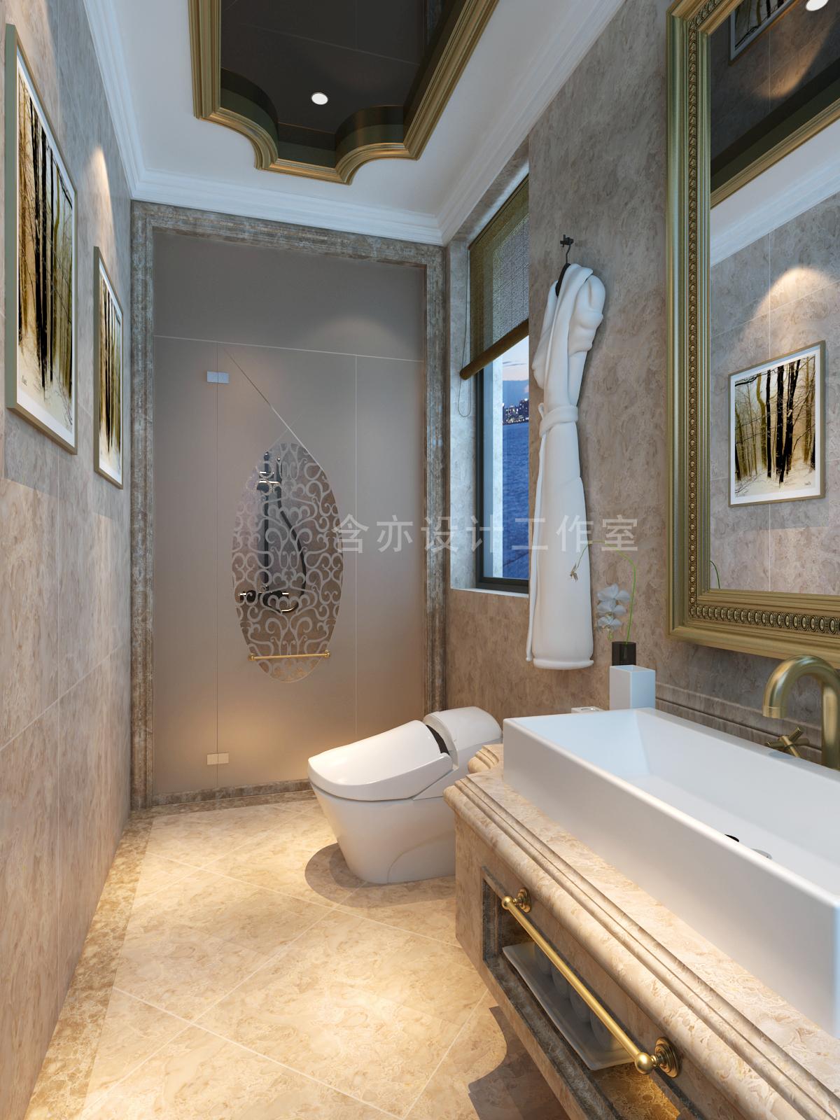 欧式 别墅 室内设计 太原设计师 卫生间图片来自王含亦在绛县别墅的分享