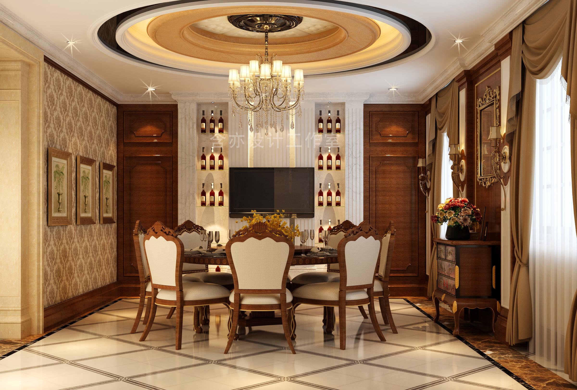 欧式 别墅 室内设计 太原设计师 餐厅图片来自王含亦在绛县别墅的分享