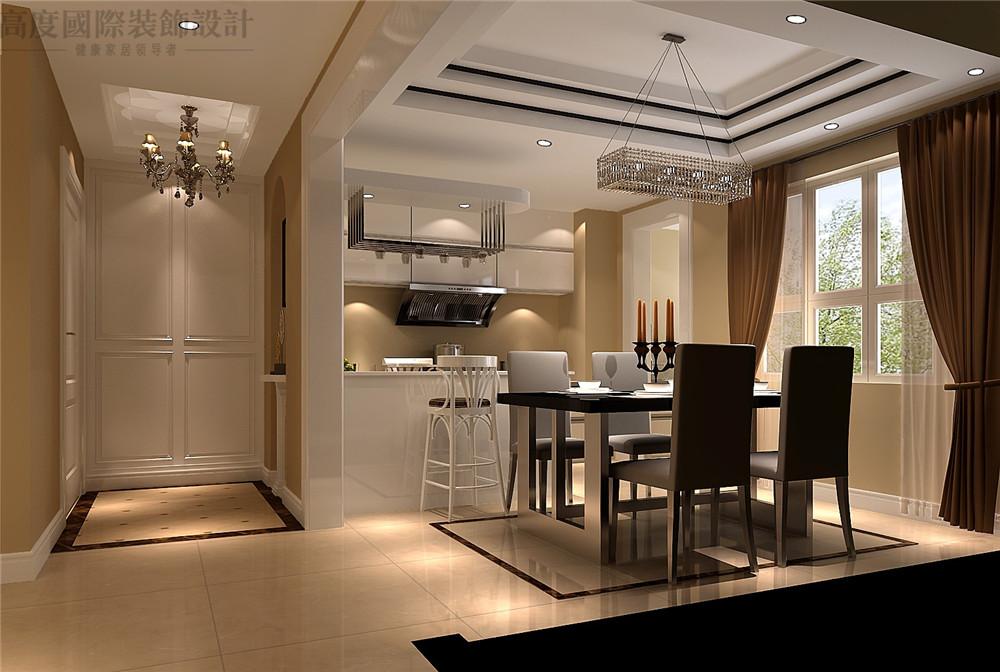 现代 装修 设计 三居 餐厅 餐厅图片来自高度国际别墅装饰设计在现代风格装修效果图的分享