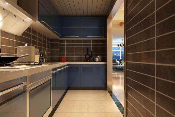 成都实创装饰—整体家装—100平米—简约欧式风格—厨房装修效果图