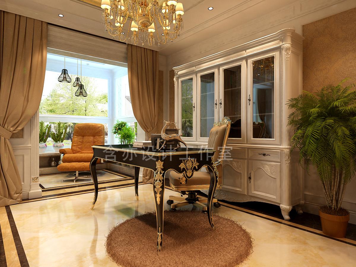 欧式 别墅 室内设计 太原设计师 书房图片来自王含亦在绛县别墅的分享