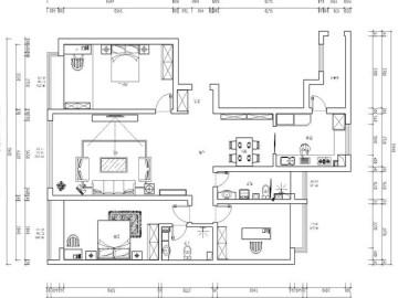 祥云国际175平新中式设计图