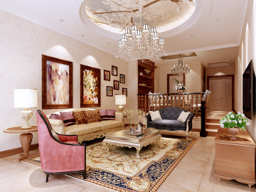 260平时尚奢华欧式别墅装修设计