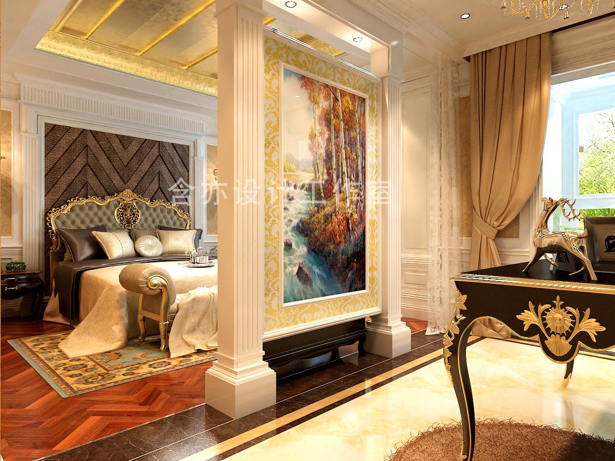 欧式 别墅 室内设计 太原设计师 卧室图片来自王含亦在绛县别墅的分享